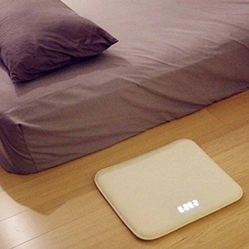 Bclaer72 Teppich-Wecker, druckempfindlicher Teppich Wecker Doppelschichtiger Millisekunden-Sensor Elektronischer LED Smart Digital Wecker Uhr für Zuhause Kinder mit schwerem Schlaf. (Teppich-wecker)