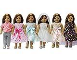 ZITA ELEMENT 6er Tägliche Puppen Kostüme Kleid Bekleidung für 35cm-46cm Kleidung Puppenkleidung Babypuppen und 18 Zoll American Girl