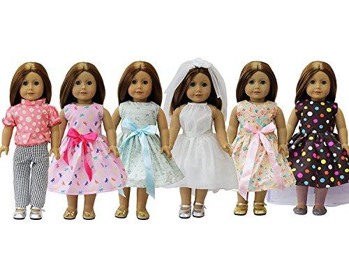 gliche Puppen Kostüme Kleid Bekleidung für 35cm-46cm Kleidung Puppenkleidung Babypuppen und 18 Zoll American Girl ()
