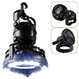 Best Camping Fans - Gardzen 2IN1 Portable LED Camping Lantern with Ceiling Review