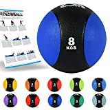 MSPORTS Medizinball 1 - 10 kg - Professionelle Studio-Qualität inkl. Übungsposter Gymnastikbälle...