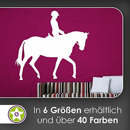 KIWISTAR Reiter Silhouette Pferdesport sitzend Wandtattoo in 6 Größen - Wandaufkleber Wall Sticker (Reiter-silhouette)