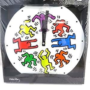 Keith Haring [M3389] - Horloge Murale 'Keith Haring' blanc multicolore (30 cm)