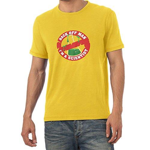 NERDO - Back off Man, I'm a Scientist - Herren T-Shirt Gelb