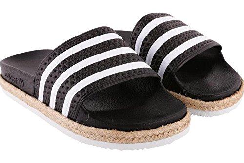 Adidas ciabatta adilette new bold w nero-bianco corda cq3093 (40.5 - nero)