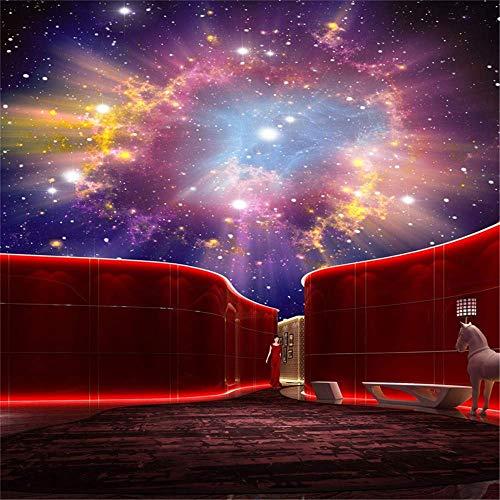 BIZI Feine Dekor Tapete Wandbild 3D Nebel Sternenhimmel Decke Sofa Hintergrund Tv Schlafzimmer Sidewall Wallpaper,200 * 140 cm