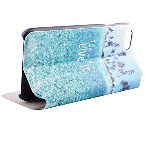 """iPhone 6 Plus Coque - MYTHOLLOGY Fenêtre Style avec Étui à rabat Support Housse Pour iPhone 6 Plus / iPhone 6S Plus 5.5"""" LBNH HD"""
