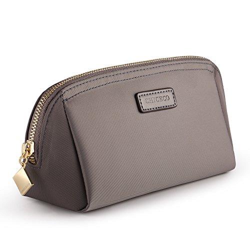 CHICECO Nylon Klein Kosmetiktasche Damen Schminktasche für Handtasche Makeup Tasche - Grau