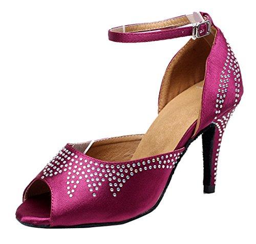 TDA , Peep-Toe femme 8.5cm Heel Purple
