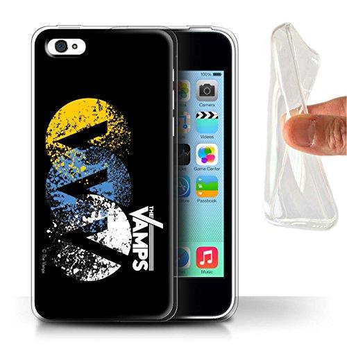 Officiel The Vamps Coque / Etui Gel TPU pour Apple iPhone 5C / Batterie Design / The Vamps Graffiti Logo Groupe Collection VVV