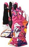Spyder Girl 's Astrid Ski Handschuh, Mädchen, Diva Pink Expression Print
