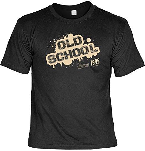 Cooles T-Shirt zum 22. Geburtstag - Old School Since 1995 - Geschenk zum 22. Geburtstag 22 Jahre Geburtstagsgeschenk Schwarz