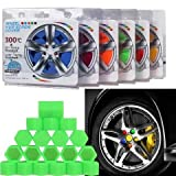 21mm 20pcs Autotrends Universal Car Silicone Wheel Lugs Nuts Bolts Covers Protective Cap (Green)