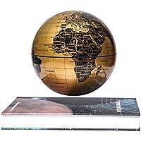 "Woodlev Magnetic Maglev Levitation Levitron Flottant tournant 6 ""Globe Gold & Blue Book Style Plate-forme Lreaning Education Home Decor (Gold)"