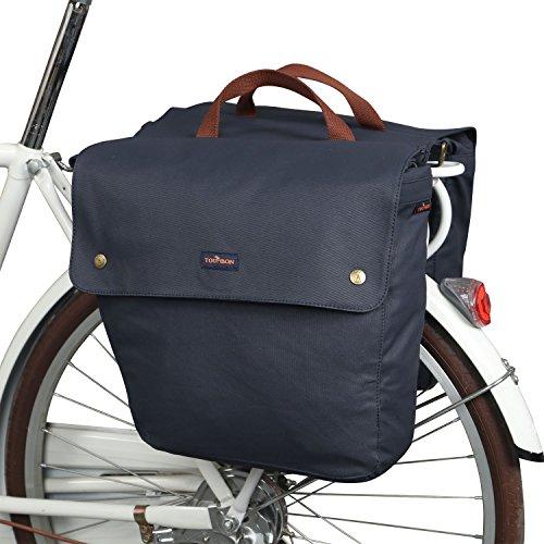 Tourbon Leinwand Fahrradtasche Fahrrad hinten Sitz Trunk Bag (aufrollbar, doppelt)