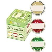 Avery - 56829 - Boîte de 50 Stickers Ronds - Motifs Noël