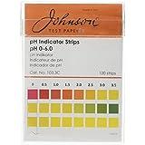 Johnson Prueba Tiras indicadoras de papeles 103,3C, PH 0-6.0, 100tiras