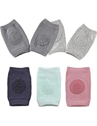 TOOGOO 2 Pairs Baby Knee Pads for Crawling Cute Breathable Adjustable Elastic Baby Kneepads Knee Elbow Pads Crawling Safety Protector