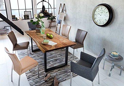 Baumkantentisch: Sit Möbel Esstisch aus Akazie Massivholz mit Baumkante