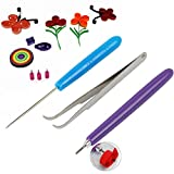 3/Set Blume Papier Quilling Werkzeug Pinzette Schlitz Nadel handgefertigt Stoff DIY Papier Craft Werkzeug für Kid Scrapbooking
