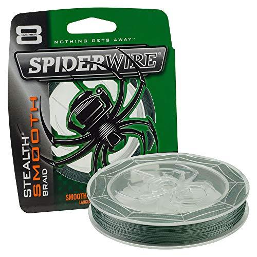 Spiderwire STLTH Angelschnur Ultracast - Stealth Glatt 8 - Moosgrün - 300 M, Transparent, 50lb/0,30mm