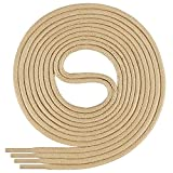 Di Ficchiano-SW-03-beige-90 gewachste runde Schnürsenkel, Schuband, Laces, Durchmesser 2-4 mm für Businessschuhe, Anzugschuhe und Lederschuhe