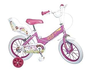 """Toimsa - 1478 - Vélo Pour Fille - Mia And Me - Rose/blanc - 14"""""""