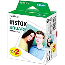lolly-U 20 Hojas de Papel fotográfico para Fujifilm Instax Square Twin Pack Film Blanco