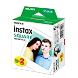 20 Blätter Fujifilm Instax Square Twin Pack-Film White Edge-Fotopapier für Instax SQ10 SQ6-Sofortbildkamera Share SP-3 Printer.