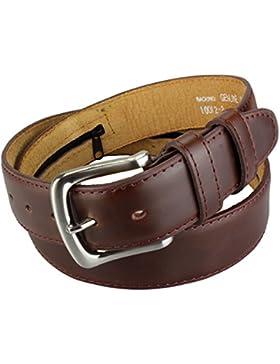 Cinturón con bolsillo secreto interno con cremallera en Marron oscuro y Negro| Longitud total : 110-175cm = Tamaño...