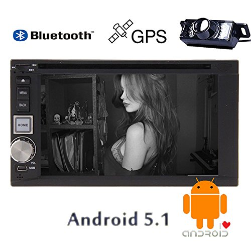 Eincar GPS Multimedia Autoradio Stereo Sistema Android 5.1 Video ricevitore universale Baccano 2 Audio MP3 / MP4 veicolo accessori auto lettore DVD FM AM Autoradio CD AMP logo Cortex A9 quad core di retrovisione Camera Sub