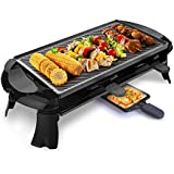 Electric Teppanyaki Griddle Non-Stick Reversible Grilling Surface And 2 Paddles - Great For A Family Get Together Or Party