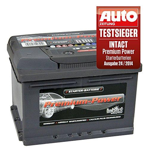 intact Premium Power PP60MF Autobatterie 12V 60Ah Testsieger GTÜ 2014
