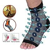 Adaym Compression Vita-Wear Calze di sostegno magnetiche infuse in rame di qualità originale, maniche di recupero, calze di sostegno fascite plantare (5 paia)