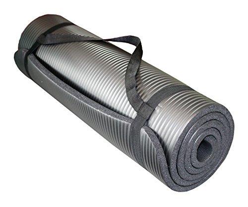 yogamatte pilates gymnastikmatte 190 x 60 x 1 5 cm schwarz. Black Bedroom Furniture Sets. Home Design Ideas