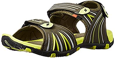 Sparx Men's Olive Florescent and Green Athletic & Outdoor Sandals - 6 UK/India (40 EU)(SS-446)