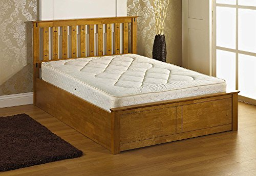 Veronica Wooden Ottoman King Size Bed