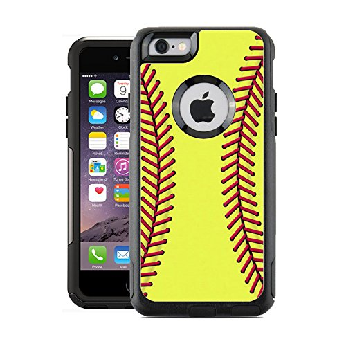 Schützende Design-Vinyl Haut Decals für OtterBox Commuter iPhone 6/6S Fall-Softball Design Patterns Nur Skins und Nicht Fall