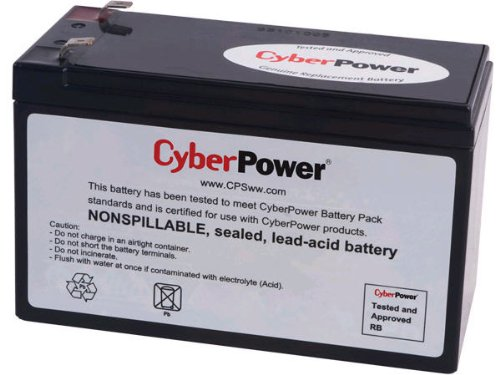 CYBERPOWER Replacement Battery RB1290 12V 9Ah AGM Bleiakku Pol T2 Faston - Batterien Cyberpower