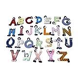 GICO Bunte Holzbuchstaben im XXL Set für Kinderzimmer Deko Tür Wand - Lustige Clowns Höhe ca 9 cm - 31 Stück je 1 x von A bis Z plus je 1 x A, L, I, N, E extra