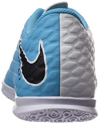 Nike Herren Hypervenomx Phade Iii Ic Fußballschuhe Blau (White/Black-Photo Blue-Chlorine Blue)