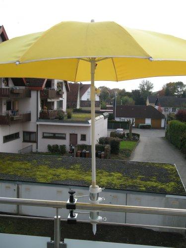 2 Support de parasol pour fixation Support de 25,5 à 55 mm Ø - Distance écran pour balcon pour intérieur ou extérieur avec 11 cm Distance Porte-parapluie - Holly breveté - pour fixation au ronde ou eckigen Éléments de env. 2 à 55/60 mm avec la 5 - réglable multi - Support rotatif à 360 ° avec capuchons en caoutchouc pour une fixation kratzfreien - Support pivotant à 360 ° - Distance Avec Prises de parasol pour de 25,5 jusqu'à Ø 55 mm avec enregistrement 13 cm 15,24 x Douille de
