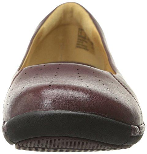 Clarks Un Hearth piatto Burgundy Leather