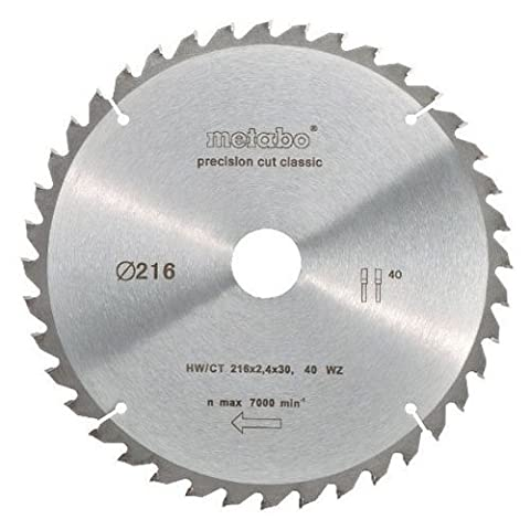 Metabo Kreissägeblatt mit CT 216 x 30 mm, 40 WZ 5 Grad, 628060000