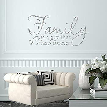 Captivating Vu0026C Designs Ltd Family Is A Gift Glitter Sparkle Quote Home Lounge Living  Room Hallway Bedroom