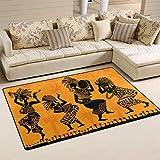 Naanle Africa - Alfombra Antideslizante para Sala de Estar, Comedor, Dormitorio, Cocina, 50 x 80 cm, Alfombra de Suelo para Yoga, 50 x 80 cm(1.7' x 2.6')
