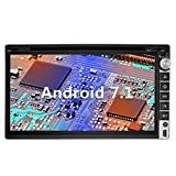 YINUO 6.95'' Zoll Android 7.1.1 Nougat 2GB RAM Quad Core 2 DIN universal Autoradio Moniceiver GPS Navigation mit Bluetooth DVD-Spieler IPOD und USB SD Funktion (Autoradio)