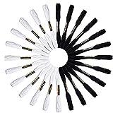 Nicedeal 24 Echevettes de Fils (Blanc et Noir) pour Broderie Point de Croix Tricotage Bracelets BrésiliensArtisanat et décoration