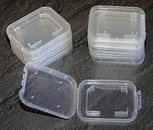 Preisvergleich Produktbild 10 Stück Schutzhülle für SD Speicherkarte Hülle