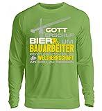 Hochwertiger Unisex Pullover - Bauarbeiter Shirt · Geschenk Bagger Fans · Baustelle · Spruch: Bier und Weltherrschaft